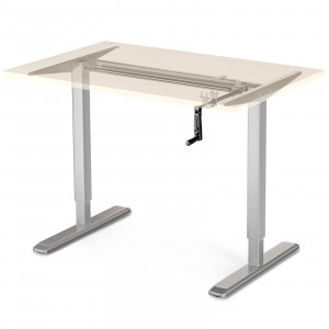 DF100 silber Tischgestell Vorführgerät